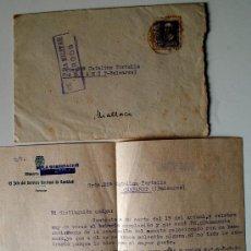 Sellos: SOBRE CIRCULADO CON CENSURA MILITAR BURGOS-MALLORCA 1939!!! FIRMADO DIRECTOR GENERAL DE SANIDAD!!. Lote 35946153
