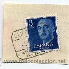 Sellos: FRAG. MATASELLOS 1960 - CANDELEDA / AVILA. Lote 35970875
