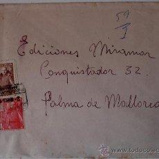 Sellos: SOBRE CIRCULADO BARCELONA-PALMA DE BALLORCA (2 MAYO 1951) . Lote 35999525