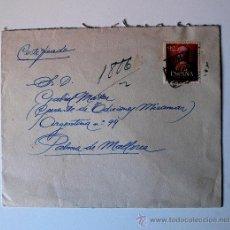 Sellos: SOBRE CIRCULADO CERTIFICADO BARCELONA-PALMA MALLORCA CON REMITE PINTOR JOSEP GUARDIOLA TORREGROSA. Lote 36011412
