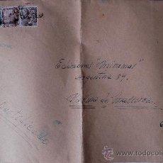 Sellos: SOBRE GRANDE CIRCULADO CERTIFICADO BARCELONA-PALMA DE MALLORCA REMITE DEL PINTOR JOAQUIN DE ANGULO. Lote 36061783