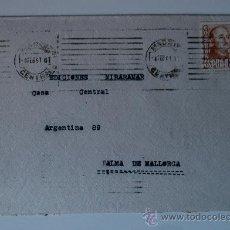 Sellos: SOBRE CIRCULADO PEQUEÑO, MADRID-PALMA DE MALLORCA (4 FEBRERO 1951) REMITE PINTOR FRANCISCO MARTIN. Lote 36293562