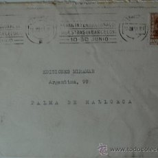 Sellos: SOBRE CIRCULADO PERMIÀ DE MAR-PALMA DE MALLORCA, REMITE DEL PINTOR SALVADOR MORAGAS, 1951 . Lote 36438118