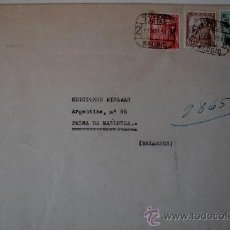 Sellos: SOBRE CIRCULADO MADRID-MALLORCA ENVIADO POR LA PINTORA JOSEFINA MARQUERIE LOPEZ (1951) . Lote 36491952