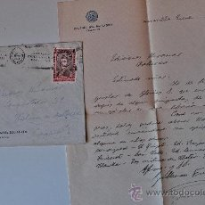 Sellos: CARTA FIRMADA + SOBRE CIRCULADO BUENOS AIRES-BARCELONA, GUILLERMO FURLONG CARDIFF, JESUITA 1951 . Lote 37010136