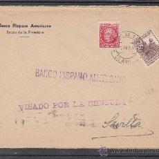 Sellos: .562 SOBRE ARCOS (CADIZ) A SEVILLA, FRANQUEO REPUBLICA Y LOCAL MATASELLADOS, CENSURA -VISADO +. Lote 36380754