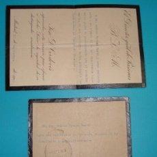 Sellos: SOBRE Y CARTA MADRID VALENCIA DIRECCION GENERAL DE PRISIONES, SELLO DEL MINISTERIO DE JUSTICIA 1919. Lote 37616870