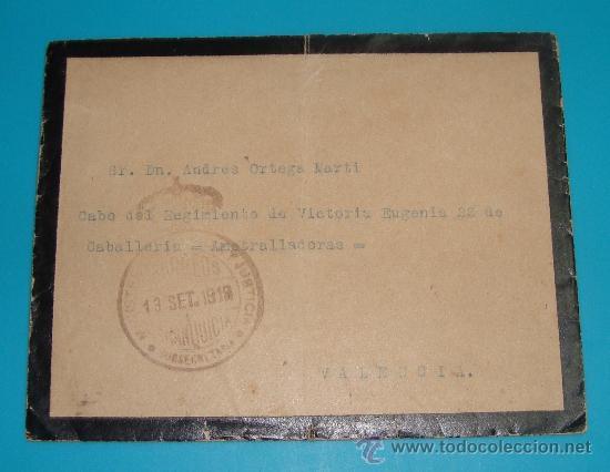 Sellos: SOBRE Y CARTA MADRID VALENCIA DIRECCION GENERAL DE PRISIONES, SELLO DEL MINISTERIO DE JUSTICIA 1919 - Foto 2 - 37616870