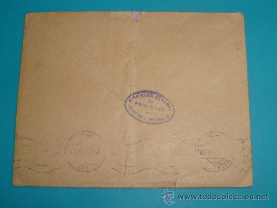 Sellos: SOBRE Y CARTA MADRID VALENCIA DIRECCION GENERAL DE PRISIONES, SELLO DEL MINISTERIO DE JUSTICIA 1919 - Foto 4 - 37616870