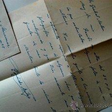 Sellos: CARTA A MANO, FIRMADA POR EL PINTOR DE FUENTELCÉSPED, CÁNDIDO MATEO MORAL + SOBRE CIRCULADO 1951 . Lote 37842567