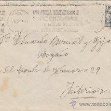 Sellos: VALENCIA INMEJORABLE ESTACION INVERNAL PLAYA MEDITERRANEA IDEAL MATASELLOS RODILLO 1931 EN CARTA. LL. Lote 37842846