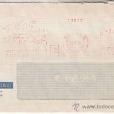 Sellos: FRANQUEO MECANICO 552 SEVILLA, VIAJE SIN INQUIETUD, BANCO DE BILBAO. Lote 37852875