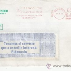 Sellos: FRANQUEO MECANICO 14753 MADRID, LA MAYOR RED BANCARIA ESPAÑOLA EN EL EXTRANJERO, BANCO DE SANTANDER. Lote 37853956