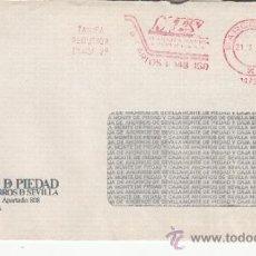 Sellos: FRANQUEO MECANICO 14732 BARCELONA, COLABORADORA, MONTE PIEDAD CAJA AHORRO SEVILLA. Lote 37854218