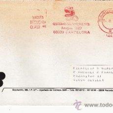 Sellos: FRANQUEO MECANICO 14421 BARCELONA, COLABORADORA, GREMIO FILATELIA BARCELONA, . Lote 37860531