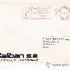 Sellos: FRANQUEO MECANICO 14340 CERDANYOLA (BARCELONA), COLABORADORA, CALIBAN S.A.. Lote 37860566