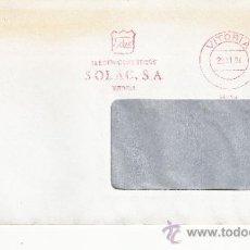 Sellos: FRANQUEO MECANICO 14293 VITORIA, ELECTRODOMESTICOS SOLAC. S.A. . Lote 37860602