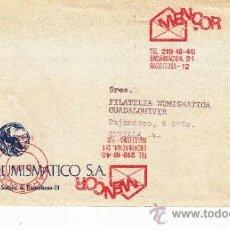 Sellos: FRANQUEO MECANICO 14124 DOBLE 1 INCOMPLETO BARCELONA, COLABORADORA, INSTITUTO NUMISMATICO S.A. . Lote 37860656