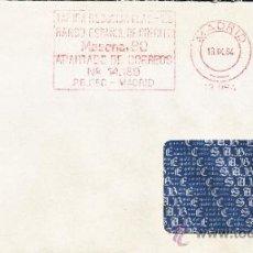 Sellos: FRANQUEO MECANICO 13984 MODIFICADO 28080 MADRID MADRID , BANCO ESPAÑOL DE CREDITO, . Lote 37871478