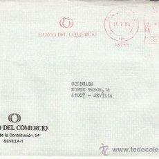 Sellos: FRANQUEO MECANICO 13745 SEVILLA, BANCO DEL COMERCIO . Lote 37871925