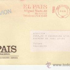 Sellos: FRANQUEO MECANICO 13721 MADRID, PRENSA, EL PAIS. Lote 37871954