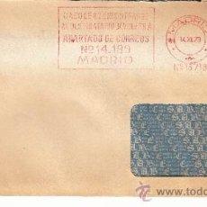 Sellos: FRANQUEO MECANICO 13718 MADRID, BANCO ESPAÑOL DE CREDITO, CASO DE NO ENCONTRAR AL DESTINATARIO DEVOL. Lote 37872082