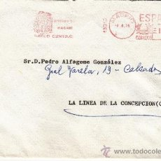 Sellos: FRANQUEO MECANICO 13310 MADRID, BANCO CENTRAL, . Lote 37872324
