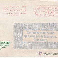 Sellos: FRANQUEO MECANICO 12659 MODIFICADO MADRID, BANCO DE SANTANDER, LA MAYOR RED BANCARIA ESPAÑOLA EN EL . Lote 37887915