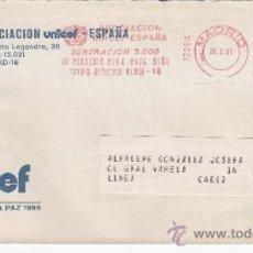 Sellos: FRANQUEO MECANICO 12264 MODIFICADO MADRID, ASOCIACION UNICEF ESPAÑA, GENERACION 2000 UN PORVENIR PAR. Lote 37890045