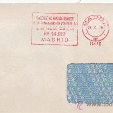 Sellos: FRANQUEO MECANICO 11870 MODIFICADO MADRID, BANCO ESPAÑOL DE CREDITO, CASO DE NO ENCONTRAR AL DESTINA. Lote 37912109