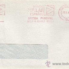 Sellos: FRANQUEO MECANICO 11815 SEVILLA, BANCO POPULAR ESPAÑOL, OFICINA PRINCIPAL, . Lote 37912178