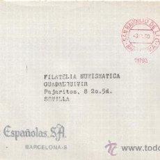 Sellos: FRANQUEO MECANICO 11763 SAN BAUDILIO DE LLOGREGAT (BARCELONA), COLABORADORA, ACUÑACIONES ESPAÑOLAS S. Lote 37912199