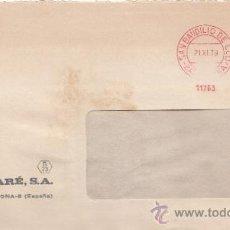 Sellos: FRANQUEO MECANICO 11763 SAN BAUDILIO DE LLOGREGAT (BARCELONA), COLABORADORA, I. CISTARE, S.A. . Lote 37912206