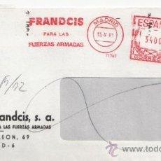 Sellos: FRANQUEO MECANICO 11747 MADRID, FRANDCIS PARA LAS FUERZAS ARMADAS, ELECTRONICAS, . Lote 37912218