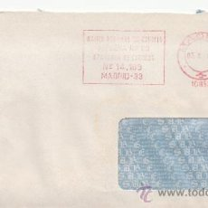 Sellos: FRANQUEO MECANICO 10863 MODIFICADO MADRID, BANCO ESPAÑOL DE CREDITO . Lote 37965015