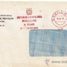 Sellos: FRANQUEO MECANICO 10129 SEVILLA, MINISTERIO SANIDAD Y SEGURIDAD SOCIAL, INSTITUTO NACIONAL PREVISION. Lote 37969450