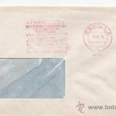 Sellos: FRANQUEO MECANICO 9400 SEVILLA, FABRICACION MECANISMOS Y ENGRANAJES DE PRECISION MOTORES, . Lote 37970023
