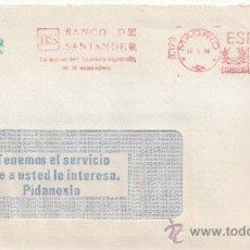 Sellos: FRANQUEO MECANICO 9179 MODIFICADO MADRID, BANCO DE SANTANDER, LA MAYOR RED BANCARIA ESPAÑOLA EN EL . Lote 37970237