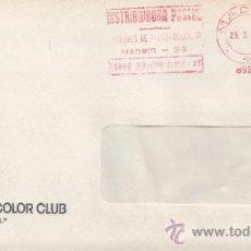 Sellos: FRANQUEO MECANICO 8992 MODIFICADO MADRID, COLABORADORA, GRATISFILM PHOTOCOLOR CLUB. Lote 37978472