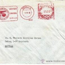 Sellos: FRANQUEO MECANICO 8962 SEVILLA, INSTITUTO TERRITORIAL HIGIENE, SEGURIDAD DEL TRABAJO. Lote 37978588