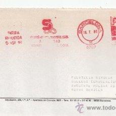 Sellos: FRANQUEO MECANICO 8767 BARCELONA, COLABORADORA, GREMIO DE FILATELIA DE BARCELONA, . Lote 37978683