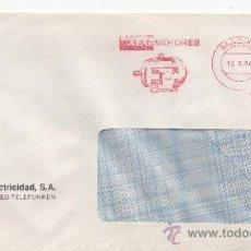 Sellos: FRANQUEO MECANICO 8668 MADRID, AEG MOTORES, . Lote 37978709