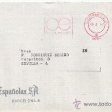 Sellos: FRANQUEO MECANICO 8639 CORNELLA (BARCELONA), COLABORADORA, ACUÑACIONES ESPAÑOLA, S.A.. Lote 37978742