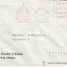 Sellos: FRANQUEO MECANICO 5556 ECIJA (SEVILLA), BANCO ESPAÑOL DE CREDITO, . Lote 37984802