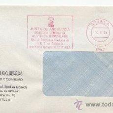 Sellos: FRANQUEO MECANICO 17947 SEVILLA, JUNTA DE ANDALUCIA, DIRECCION GENERAL DE ASISTENCIA HOSPITALARIA, . Lote 38011274
