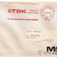 Sellos: FRANQUEO MECANICO 17500 MADRID, TDK, CASSETES, AUDIO-VIDEO, . Lote 38023419