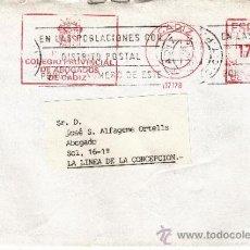 Sellos: FRANQUEO MECANICO 17178 MATASELLADO CADIZ, ILUSTRE COLEGIO PROVINCIAL DE ABOGADOS DE CADIZ, . Lote 38023737