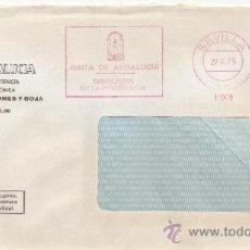 Sellos: FRANQUEO MECANICO 16909 SEVILLA, JUNTA DE ANDALUCIA, CONSEJERIA DE LA PRESIDENCIA, . Lote 38026593