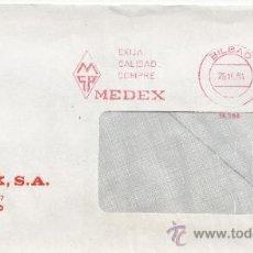 Sellos: FRANQUEO MECANICO 15394 BILBAO, MSA, EXIJA CALIDAD DOMPRE MEDEX, . Lote 38027355