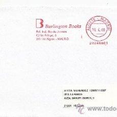 Sellos: FRANQUEO MECANICO ,28246801 ALGETE (MADRID), BURLINGTON BOOKS . Lote 38187342